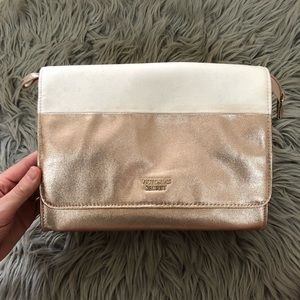 Gold and Cream Victoria's Secret Makeup Bag